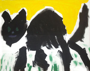student painting of a cat
